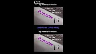 Top Verses To Memorize, Proverbs 1:7
