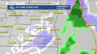 Snow moves in Tuesday evening