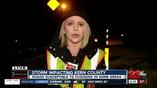 Storm continues to impact parts of Kern County on Thursday