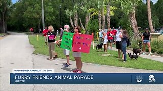 Furry Friends Animal Rescue and Busch Wildlife Center hold animal parade in Jupiter
