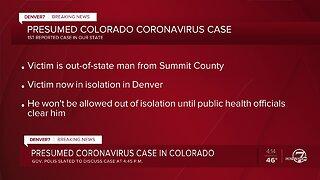 First coronavirus case in Colorado