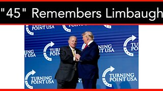 """""""He Is A Legend"""" Trump Remembers Rush Limbaugh """"He Is A Legend"""""""