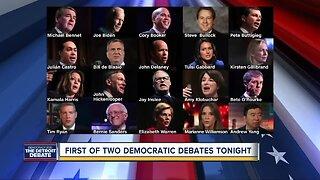 Detroit: First of 2 Democratic debates tonight