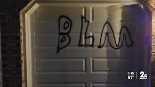 Bel Air homes vandalized with 'BLM' and anti-Trump graffiti