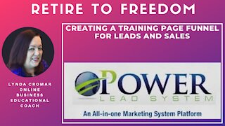 Creating a training page funnel for leads and sales
