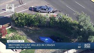 PD: Motorcyclist killed in north Phoenix crash
