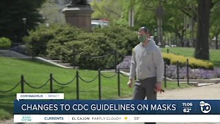 CDC makes changes to guidance around masks