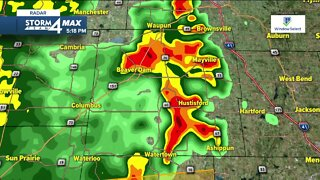 Storms moving in Sunday evening