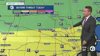Metro Detroit forecast: Severe weather threat today