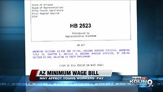 Bill would allow employers to pay young workers less than minimum wage