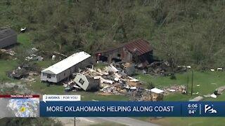 More Oklahomans helping along coast