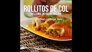 Cabbage Rolls Stuffed with Ground Beef