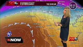 Kern County will be dry through Friday before a storm arrives this weekend