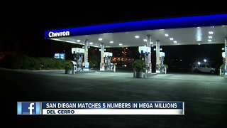 Mega Millions ticket with 5 winning numbers sold at local gas station
