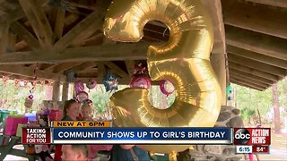 Community shows up for 3-year-old's birthday party when no one else did