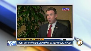 Hunter's supporters disappointed about guilty plea