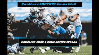 Panther Prowl Review Week 11: Panthers SHUTOUT Lions!!