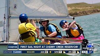 First sail night at Cherry Creek Reservoir
