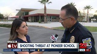 Shooting threat at Pioneer School in Delano