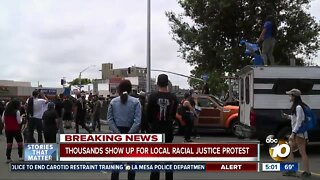 Thousands show up for local racial justice protest