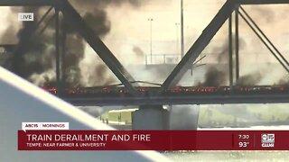 Tempe train derailment, fire causes partial bridge collapse