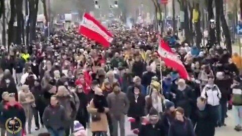 Vienna Austria Protests Erupt In Vienna