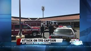 Suspect attacks fire captain