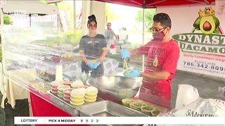 Dynasty Guacamole at River District Farmers Market reopening in Fort Myers