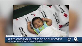 Red cross volunteers help out