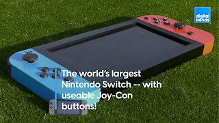 The world's largest Nintendo Switch!