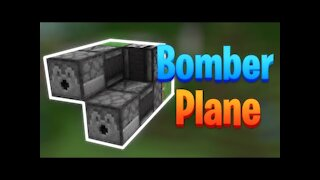 Minecraft Bomber Plane Tutorial