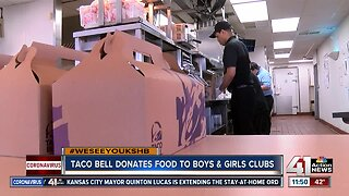 Taco Bell donates food to Boys and Girls Clubs