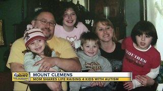 Mt. Clemens mother raising 4 children diagnosed with autism