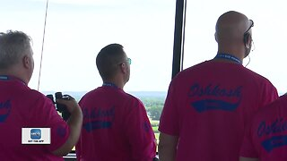 Air traffic control keeps busy at the start of EAA