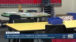 With COVID cases rising, school districts are considering further delays to in-person learning
