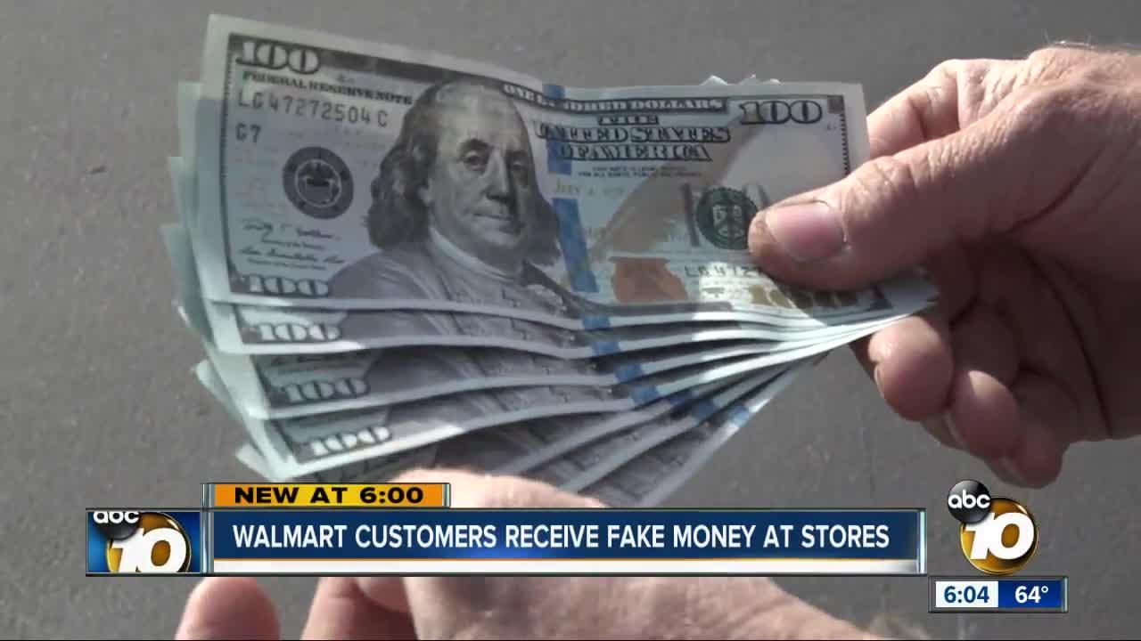 Walmart customers: We received fake $100 bills at store