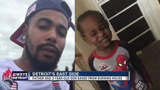 3-year-old boy, father injured after house fire on Detroit's east side