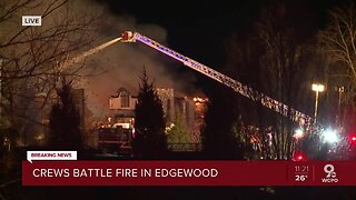 Emergency crews battle large fire in Edgewood