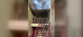 Around 30 people displaced in Las Vegas apartment fire near Chinatown