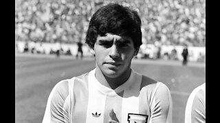 A tribute to the late football legend Diego Maradona