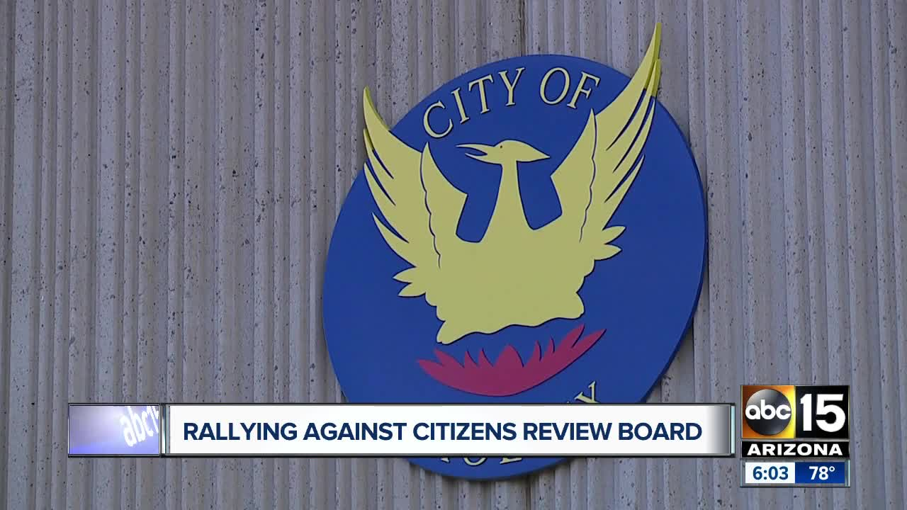 Some Phoenix residents speak out against the City Council creating a citizens review board