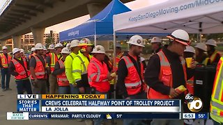 Mid Coast Trolley project reaches halfway point