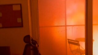 Horrifying footage of building fire from inside apartment