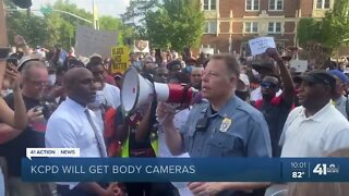 KCPD announces funding for officer body cameras