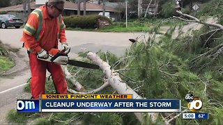 Cleanup underway after the storm