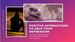 POSITIVE Affirmations to Help Overcome DEPRESSION | HEALING Sadness, Chronic Pain, Anxiety & Fear