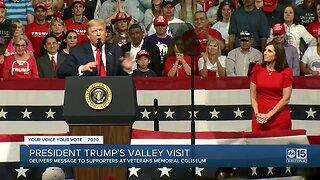 President Trump makes Valley visit