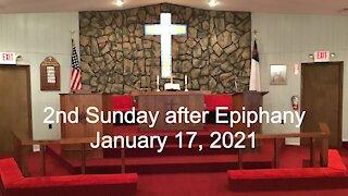 2nd Sunday after Epiphany Worship January 17, 2021