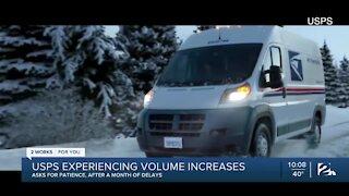 USPS experiencing volume increases