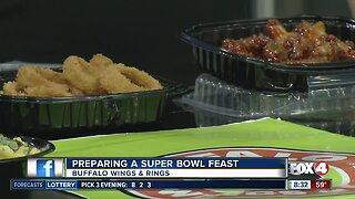 Preparing a Super Bowl Feast with Buffalo Wings & Rings